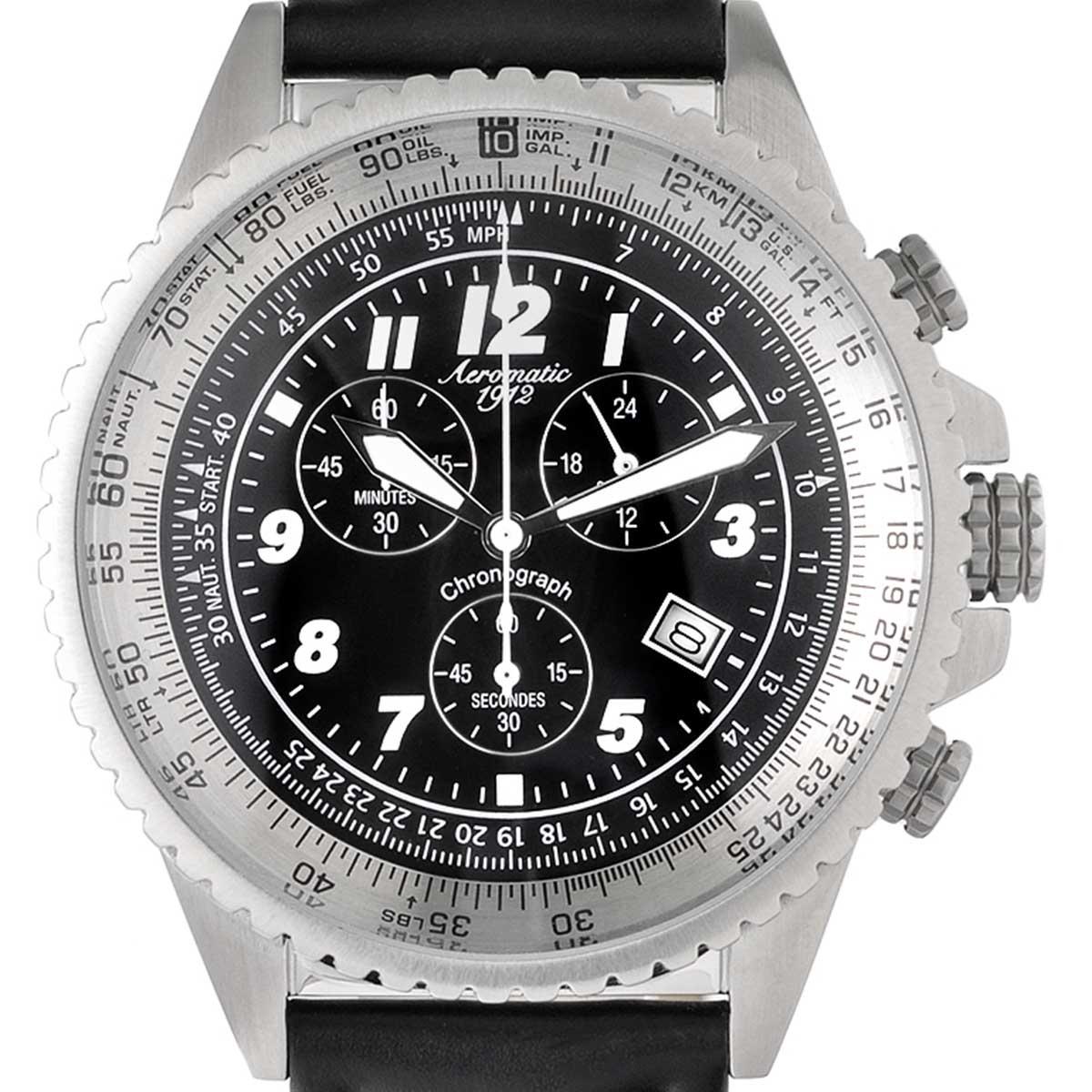 Aeromatic1912 エアロマティック1912 電池式クォーツ 腕時計 [A1222] 並行輸入品  クロノグラフ