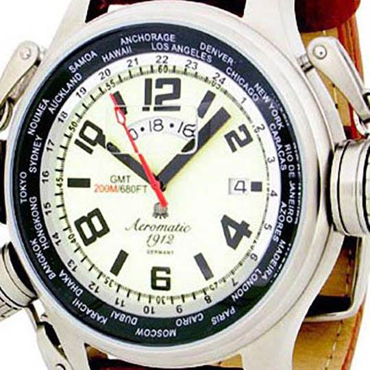 Aeromatic 1912 エアロマティック 1912 エアロマチック 1912 クォーツ 腕時計 メンズ パイロットウォッチ [A1284] 正規代理店品 メーカー保証24ヶ月&純正ケース付き