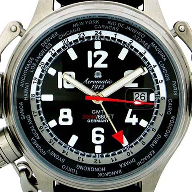 Aeromatic 1912 エアロマティック 1912 エアロマチック 1912 クォーツ 腕時計 メンズ パイロットウォッチ [A1300] 正規代理店品 メーカー保証24ヶ月