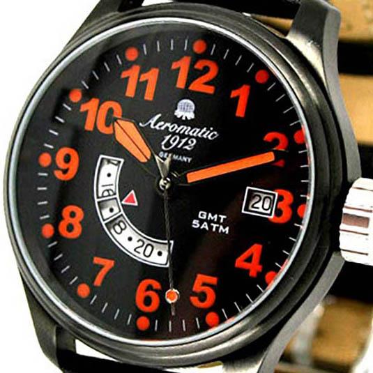 Aeromatic 1912 エアロマティック 1912 エアロマチック 1912 クォーツ 腕時計 メンズ パイロットウォッチ [A1324] 正規代理店品 メーカー保証24ヶ月