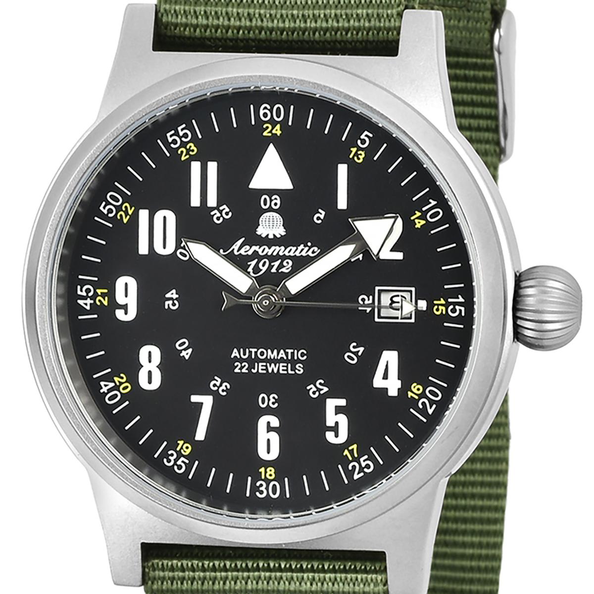 Aeromatic 1912 エアロマティック 1912 エアロマチック 1912 自動巻き 腕時計 メンズ パイロットウォッチ [A1336] 正規代理店品 メーカー保証24ヶ月