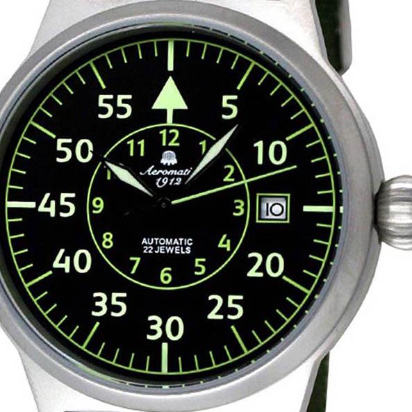 Aeromatic 1912 エアロマティック 1912 エアロマチック 1912 自動巻き 腕時計 メンズ パイロットウォッチ [A1354] 正規代理店品 メーカー保証24ヶ月