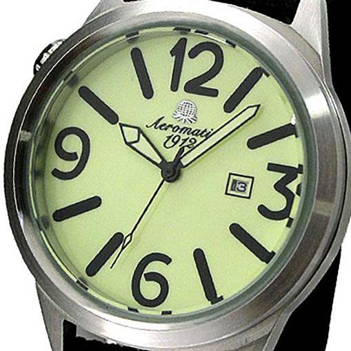 【残り1点】Aeromatic 1912 エアロマティック 1912 エアロマチック 1912 クォーツ 腕時計 メンズ パイロットウォッチ [A1371] 正規代理店品 メーカー保証24ヶ月