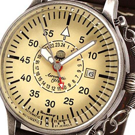 Aeromatic 1912 エアロマティック 1912 エアロマチック 1912 自動巻き 腕時計 メンズ パイロットウォッチ [A1382] 正規代理店品 メーカー保証24ヶ月