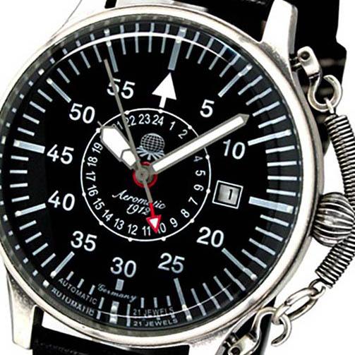 Aeromatic 1912 エアロマティック 1912 エアロマチック 1912 自動巻き 腕時計 メンズ パイロットウォッチ [A1395] 並行輸入品 メーカー保証24ヶ月&純正ケース付き