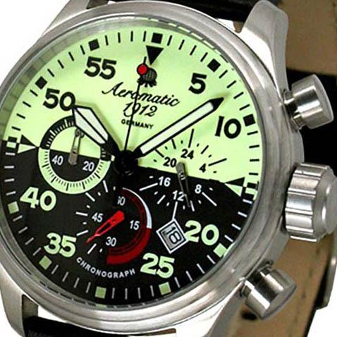 Aeromatic 1912 エアロマティック 1912 エアロマチック 1912 クォーツ 腕時計 メンズ パイロットウォッチ [A1403] 正規代理店品 メーカー保証24ヶ月