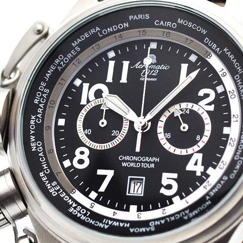 Aeromatic1912 エアロマティック エアロマチック クォーツ 腕時計 メンズ パイロットウォッチ [A1413] 正規代理店品 メーカー保証24ヵ月 収納ケース付き