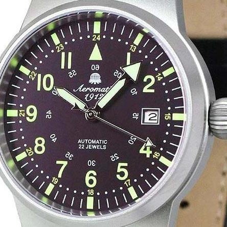 Aeromatic1912 エアロマティック エアロマチック 自動巻き 腕時計 メンズ パイロットウォッチ [a1418] 正規代理店品 メーカー保証24ヵ月 収納ケース付き