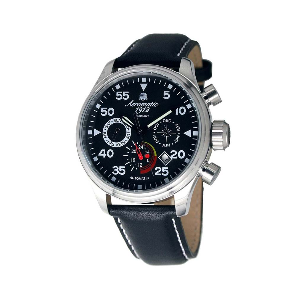 Aeromatic 1912 エアロマティック 1912 エアロマチック 1912 自動巻き 腕時計 メンズ パイロットウォッチ [A1420] 並行輸入品 メーカー保証24ヶ月&純正ケース付き