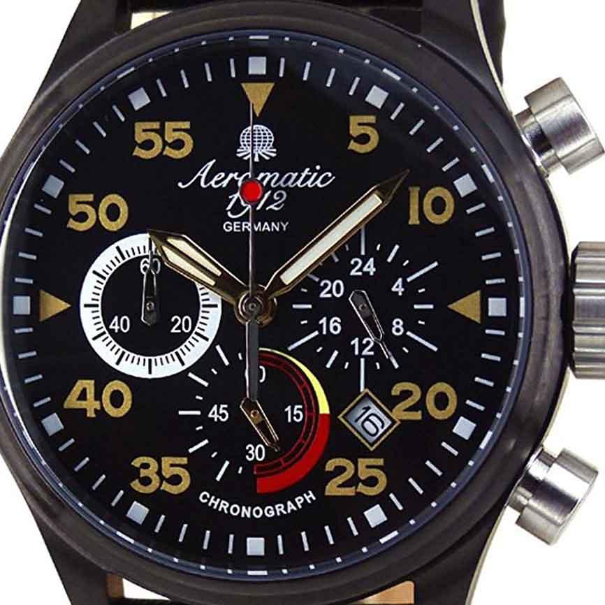 Aeromatic1912 エアロマティック エアロマチック クォーツ 腕時計 メンズ クロノグラフ [A1427] 並行輸入品 メーカー保証24ヵ月 収納ケース付き