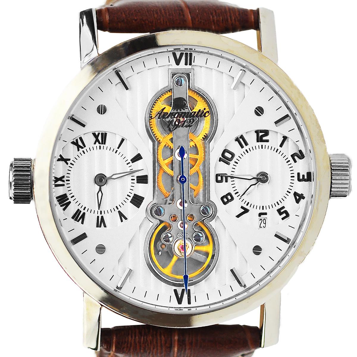 Aeromatic1912 エアロマティック1912 電池式クォーツ 腕時計 [A1431] 並行輸入品 カレンダー GMT(ワールドタイム)
