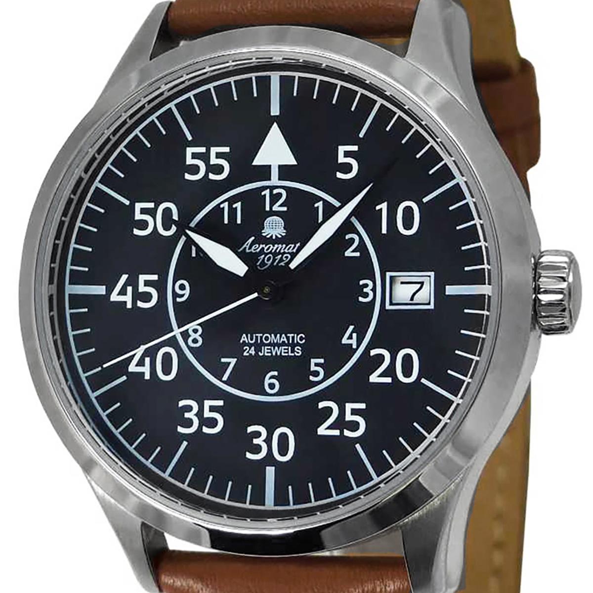 Aeromatic1912 エアロマティック1912 自動巻き(手巻き機能あり) 腕時計 [A1434] 正規代理店品  デイト