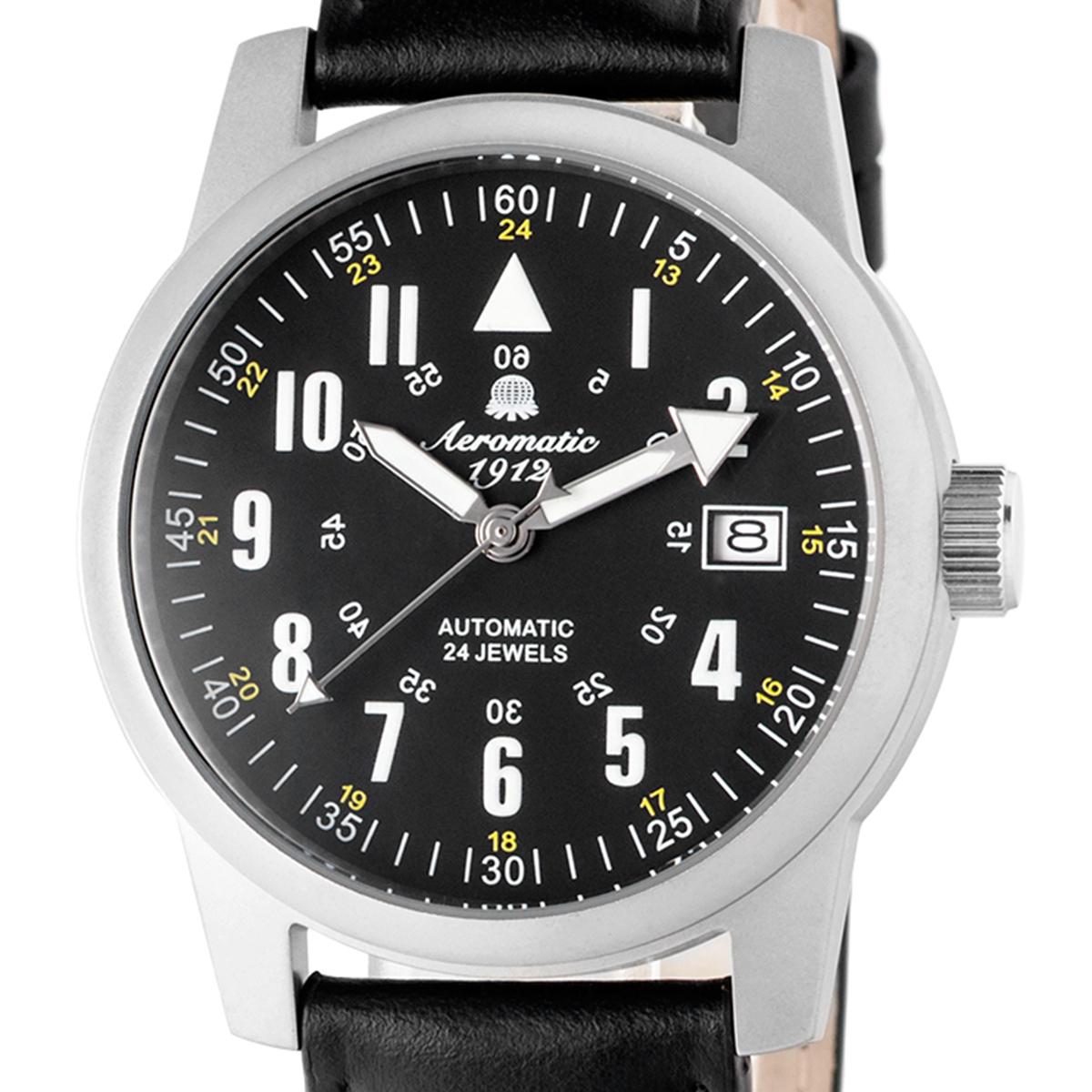 Aeromatic1912 エアロマティック1912 自動巻き(手巻き機能あり) 腕時計 [A1027X] 正規代理店品  デイト