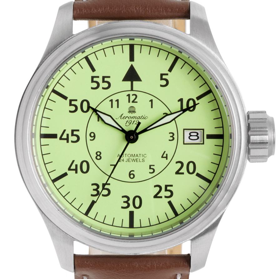 Aeromatic1912 エアロマティック1912 自動巻き(手巻き機能あり) 腕時計 [A1441] 正規代理店品 全面 デイト