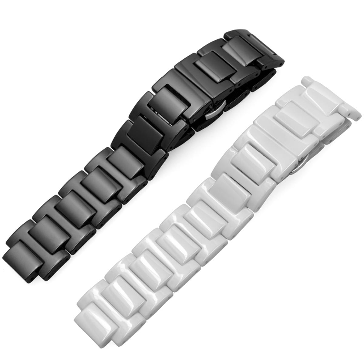 腕時計ベルト 腕時計バンド 替えストラップ 社外品 汎用セラミックベルト 取付幅14x8mm/20x12 適用: Cartier カルティエ [バロンブルー] (尾錠)Dバックル付き [ Eight - ECMB011 ]