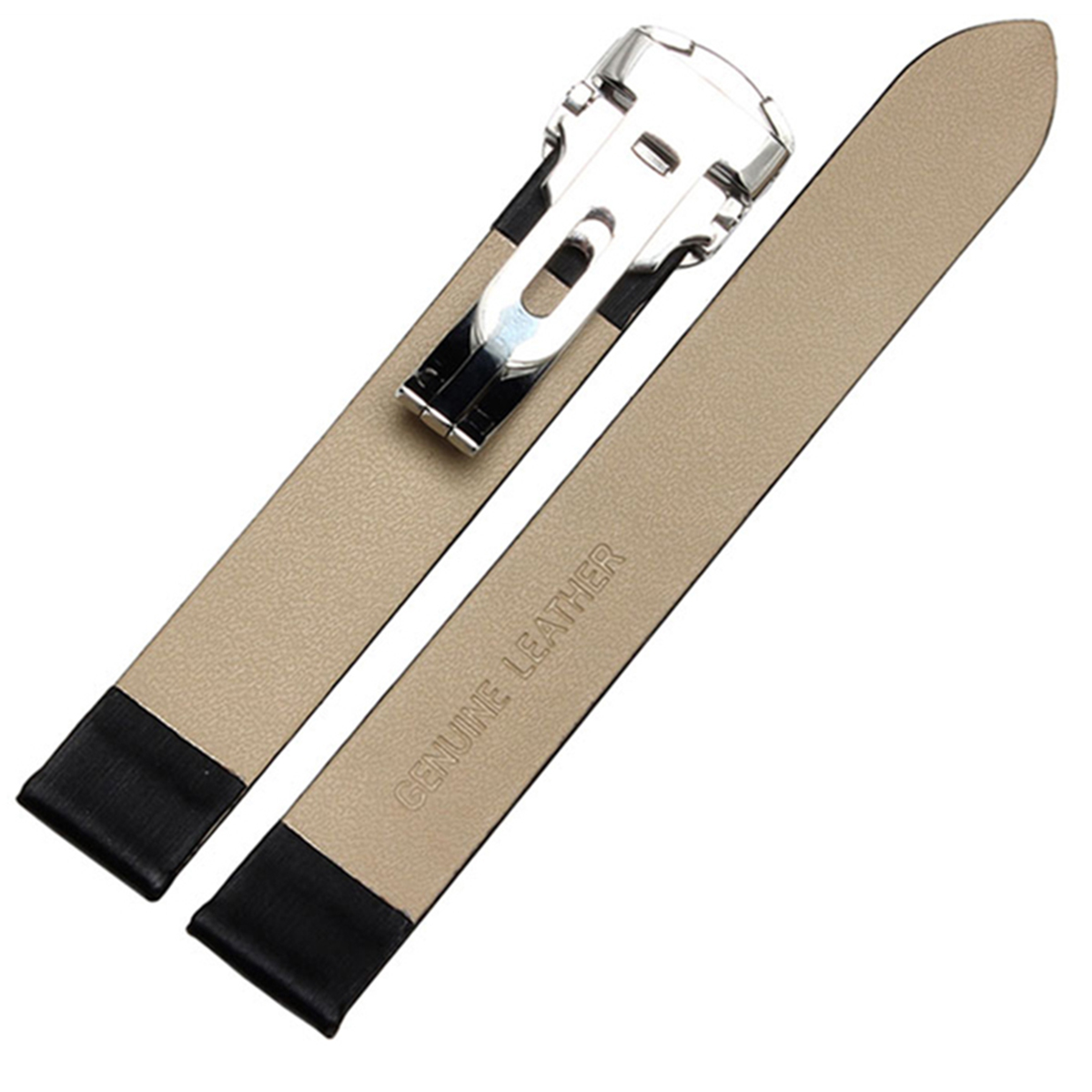 腕時計ベルト 腕時計バンド 替えストラップ 社外品 汎用レザーベルト 革ベルト 取付幅14mm 適用: Cartier カルティエ [Tonneau WE400331 WE400131] (尾錠)Dバックル付き [ Eight - ELB193 ]
