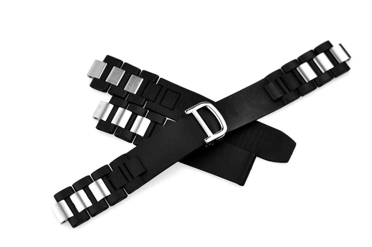 best service f33d1 f362c 腕時計ベルト 腕時計バンド 替えストラップ 社外品 汎用ラバーベルト 取付幅20mm 適用: Cartier カルティエ [クロノスカフ]  (尾錠)Dバックル付き [ Eight - ERB022 ] 8号店