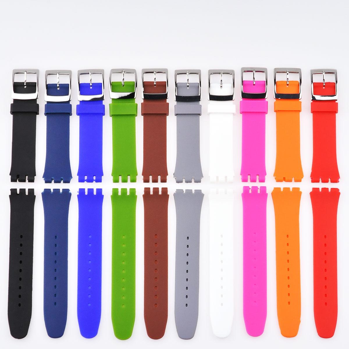 看着手表带更换安全带安装通用皮带安装宽度 17 / 19 毫米适用︰ 色板色板 (扣) 用别针扣 [8-雇员再培训局 025]