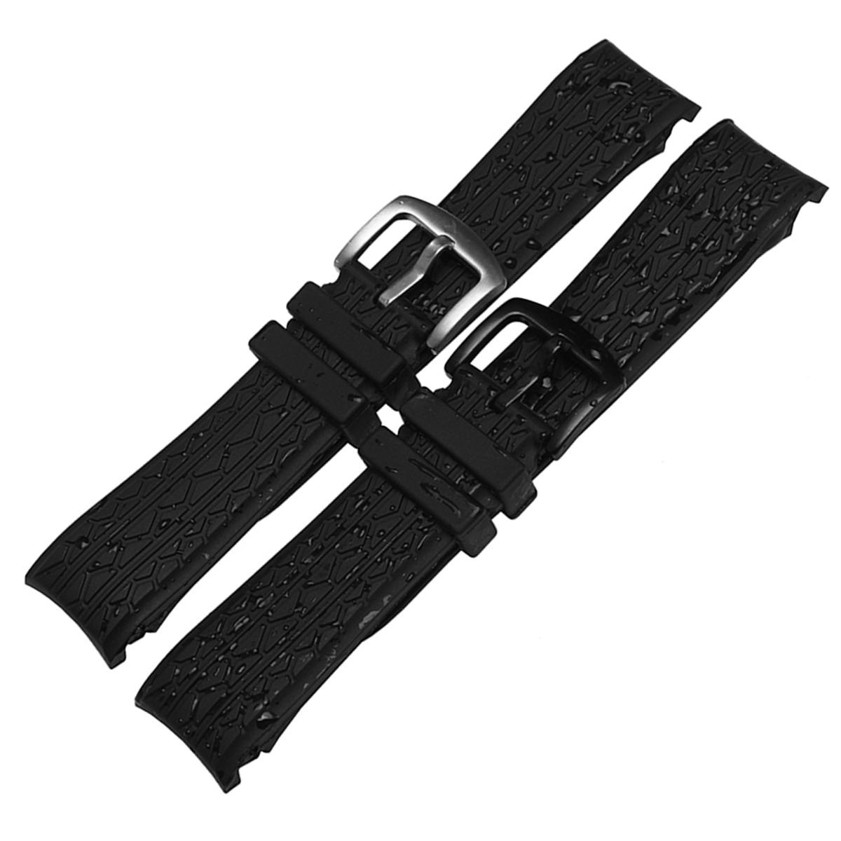 【メール便】 腕時計ベルト 腕時計バンド 替えストラップ 社外品 汎用ラバーベルト 取付幅24mm 適用: PORSCHE ポルシェ (尾錠)ピンバックル付き [ Eight - ERB117 ]
