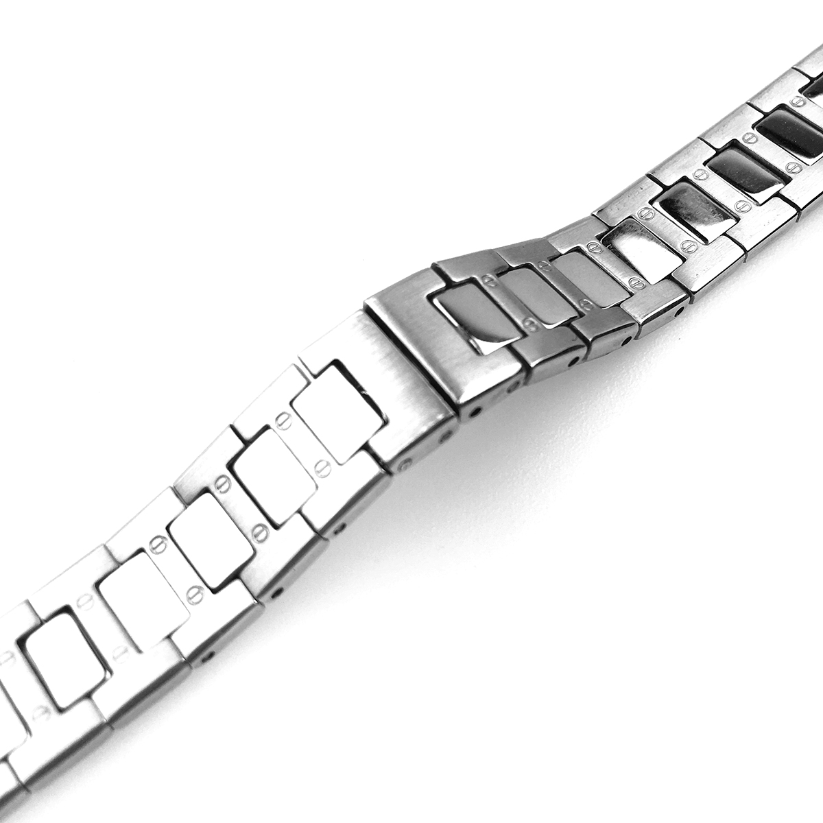 【メール便】 腕時計ベルト 腕時計バンド 替えストラップ 社外品 汎用ステンレスベルト 取付幅12mm (尾錠)Dバックル付き [ Eight - ESB266 ]