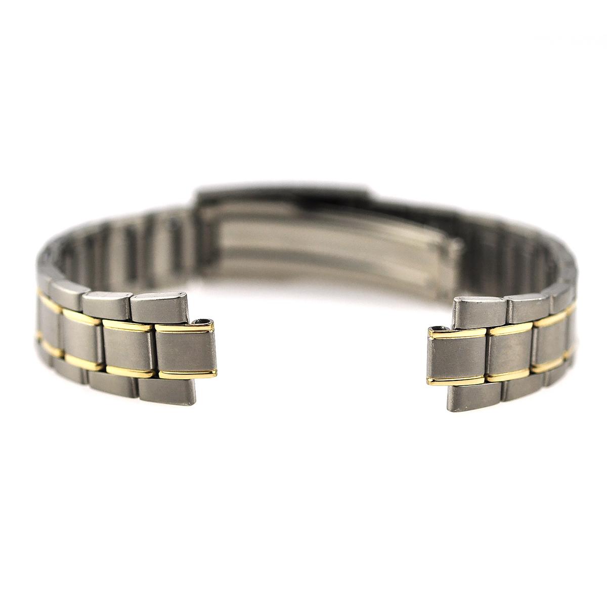 腕時計ベルト 腕時計バンド 替えストラップ 社外品 汎用チタンベルト 取付幅14mm(7mm) (尾錠)Dバックル付き [ Eight - ETB019 ]