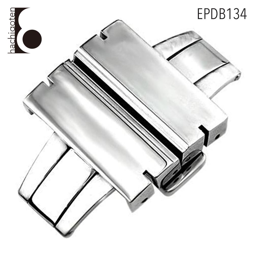 Dバックル メンズ ユニセックス EPDB134 腕時計ベルト用 バックル 尾錠 社外品 お金を節約 取付幅22mm Eight - 金具 汎用Dバックル 好評