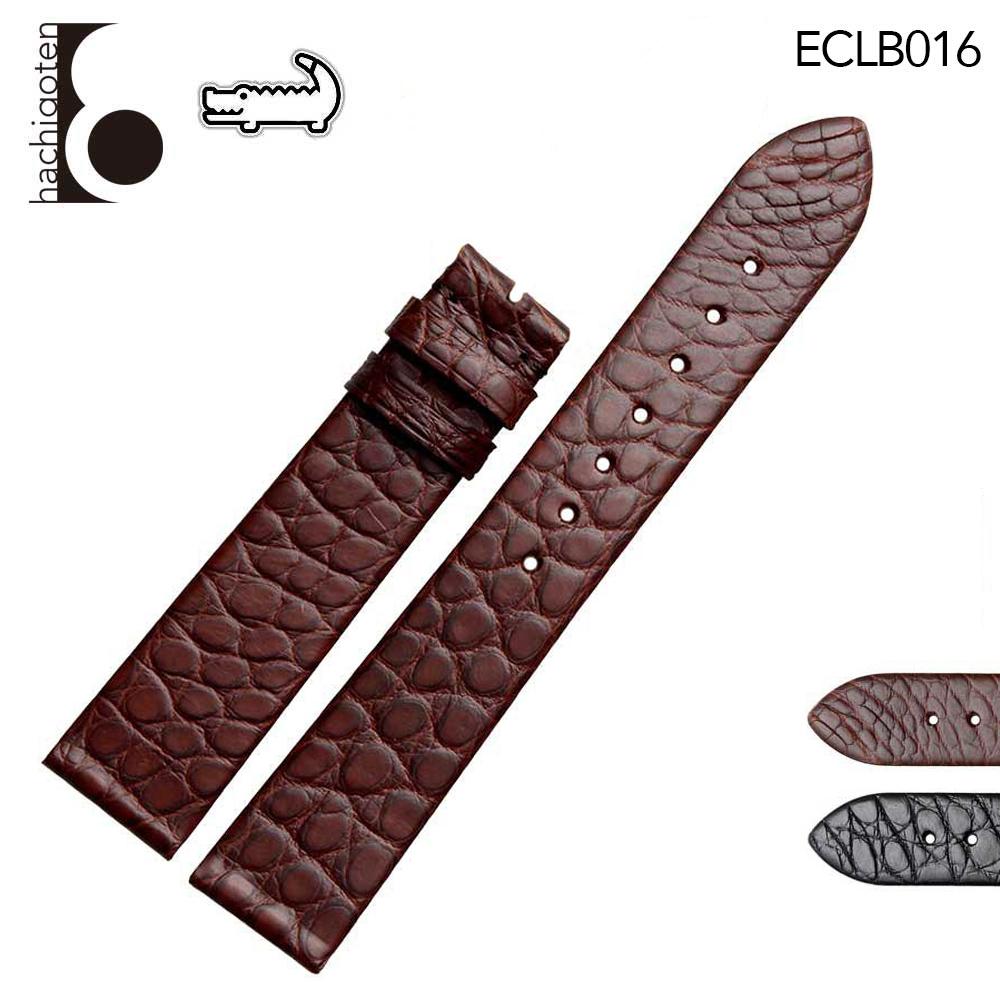腕時計ベルト 腕時計バンド 替えストラップ 社外品 汎用レザーベルト / ワニ革 取付幅12/13/14/16/17/18/19/20/21/22mm 適用: LONGINES ロンジン [L4.759.2.11.2/L4.709.4.71.2] (尾錠)バックルなし [ Eight - ECLB016 ]
