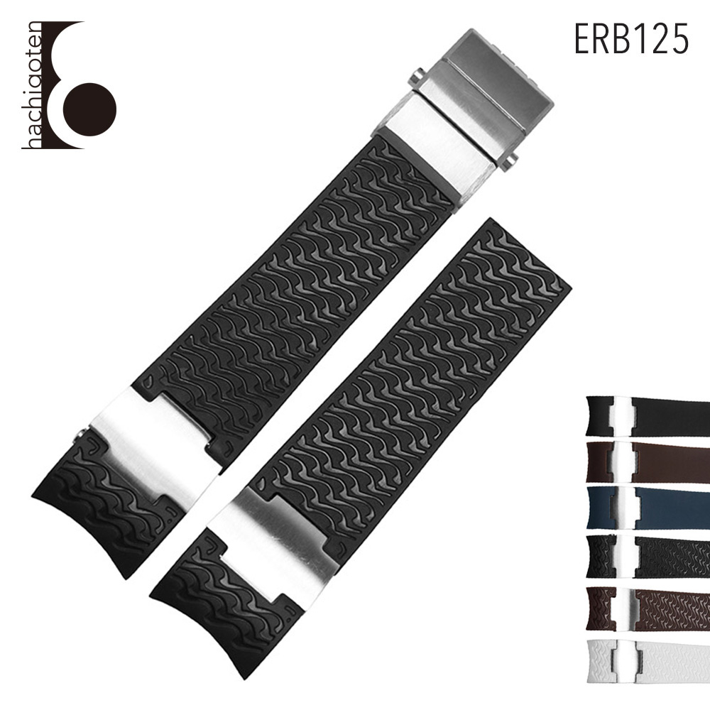 腕時計ベルト 腕時計バンド 替えストラップ 社外品 汎用ラバーベルト 取付幅22mm 適用: ULYSSE NARDIN ユリス ナルダン (尾錠)Dバックル付き [ Eight - ERB125 ]