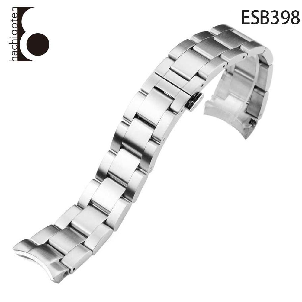 腕時計ベルト 腕時計バンド 替えストラップ 社外品 汎用ステンレスベルト 取付幅20/22mm 適用: SEIKO セイコー [SKX007/SKX009/SKX011] (尾錠)バックル付き [ Eight - ESB398 ]