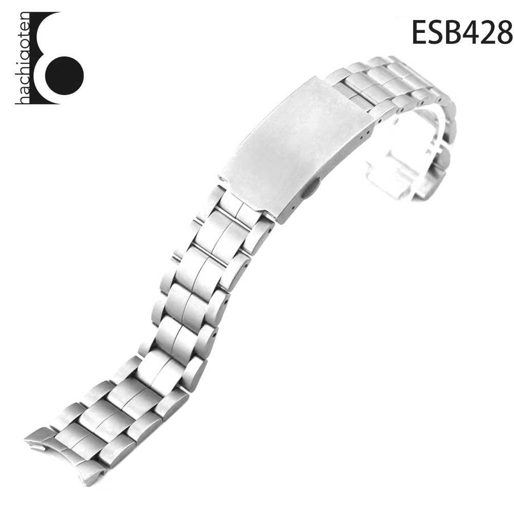 腕時計ベルト 腕時計バンド 替えストラップ 社外品 純正ステンレスベルト 取付幅10mmx18mm 適用: 【純正品】HAMILTON ハミルトン (尾錠)Dバックル付き [ Eight - ESB428 ]