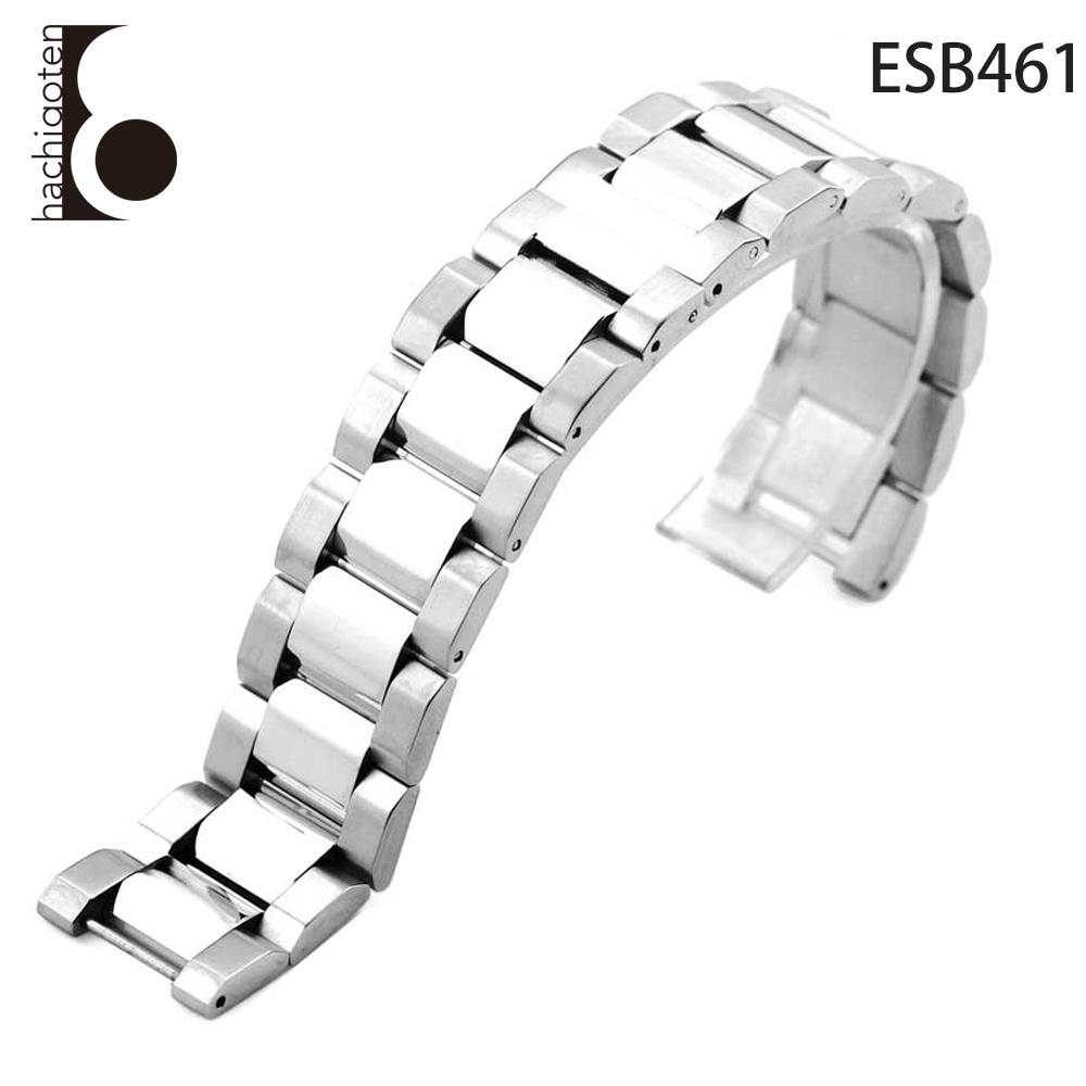 腕時計ベルト 腕時計バンド 替えストラップ 社外品 汎用ステンレスベルト 取付幅20mm(11mm) (尾錠)Dバックル付き [