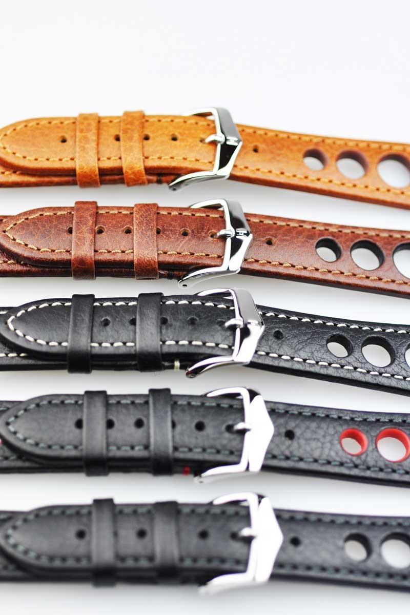 HIRSCH赫希RALLY(拉力赛)5色手表皮带水牛皮革18mm/20mm/22mm