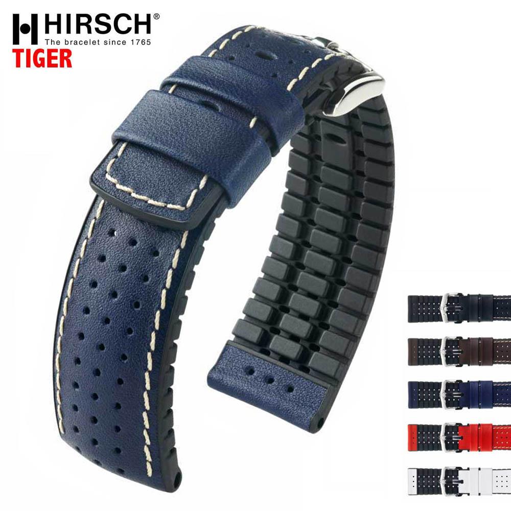 【オススメ】【売れ筋】HIRSCH ヒルシュ TIGER(タイガー) 5色 腕時計ベルト 高耐久性カーフレザー 18mm/20mm/22mm/24mm