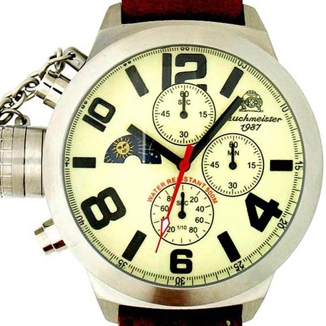 Tauchmeister 1937 トーチマイスター 1937 クォーツ 腕時計 メンズ ダイバーズウォッチ U-BOOT(ユーボート)[T0072] 正規代理店品 メーカー保証24ヵ月 収納ケース付き