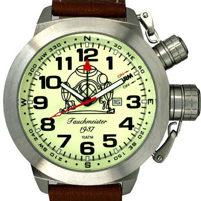 Tauchmeister 1937 トーチマイスター 1937 クォーツ 腕時計 メンズ ダイバーズウォッチ U-BOOT(ユーボート)[T0187] 正規代理店品 メーカー保証24ヶ月&純正ケース付き