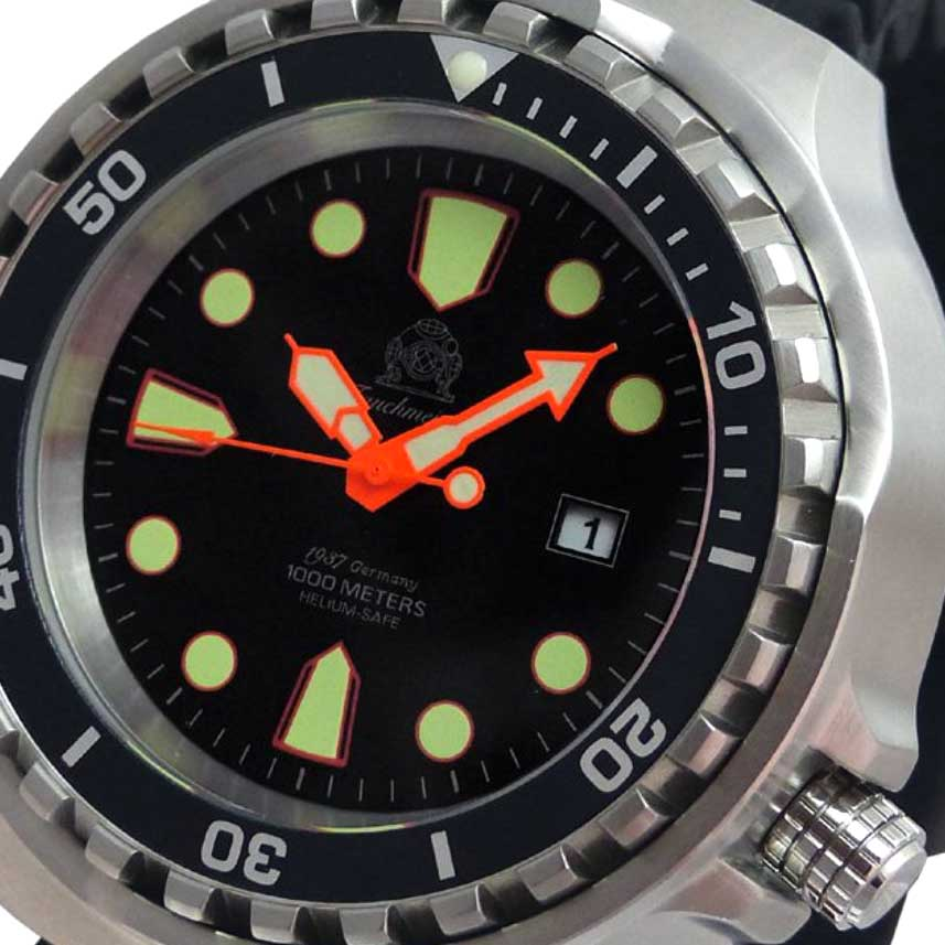 Tauchmeister 1937 トーチマイスター 1937 クォーツ 腕時計 メンズ ダイバーズウォッチ 1000M防水 [T0300] 正規代理店品 メーカー保証24ヵ月 収納ケース付き