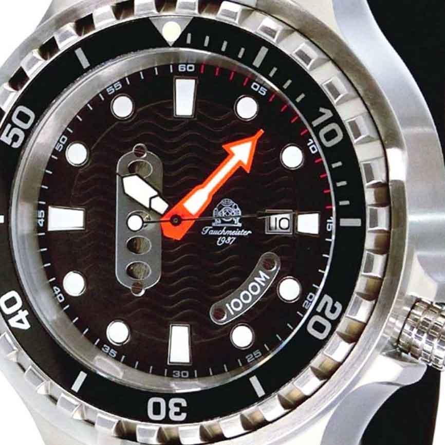 Tauchmeister 1937 トーチマイスター 1937 自動巻き 腕時計 メンズ ダイバーズウォッチ 1000M防水 [T0302] 正規代理店品 メーカー保証24ヵ月 収納ケース付き