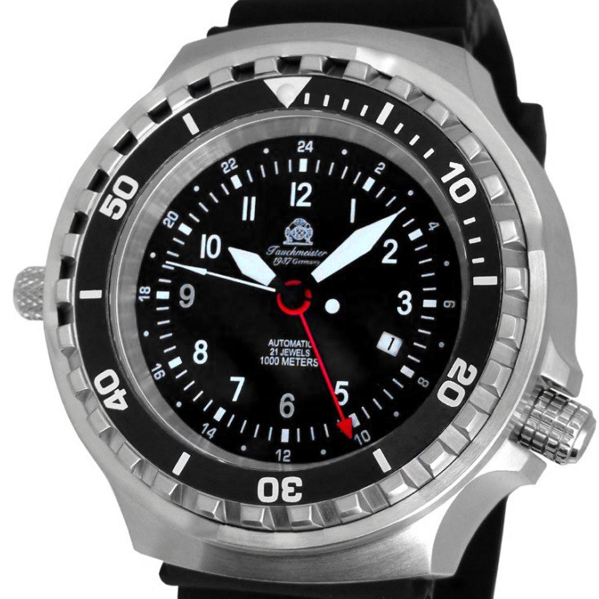 Tauchmeister 1937 トーチマイスター1937 電池式クォーツ 腕時計 [T0311] 並行輸入品  デイト GMT(ワールドタイム) ダイバーズ ヘリウムエスケープバルブ
