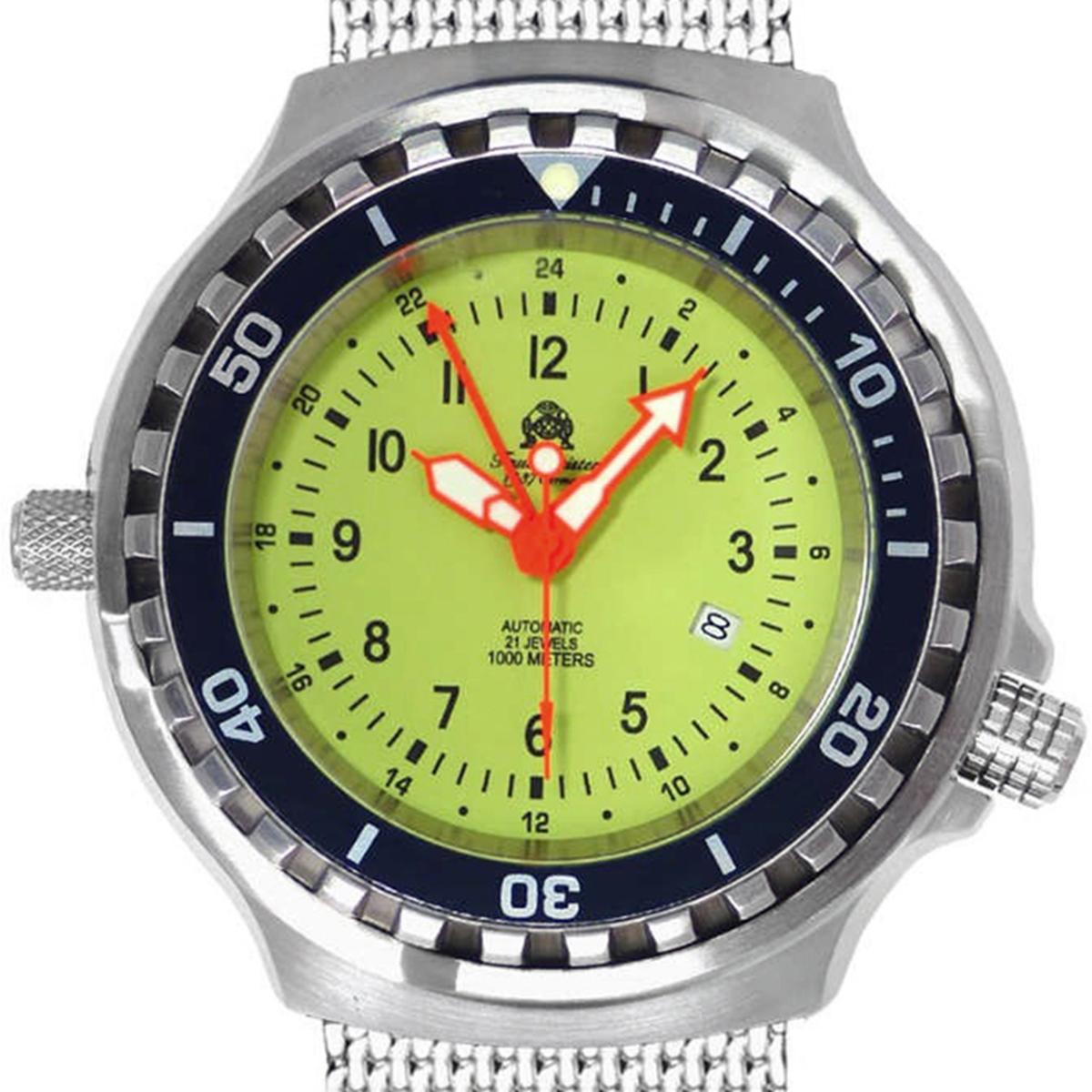 Tauchmeister 1937 トーチマイスター1937 自動巻き(手巻き機能あり) 腕時計 [T0313MIL] 並行輸入品  デイト ダイバーズ ヘリウムエスケープバルブ