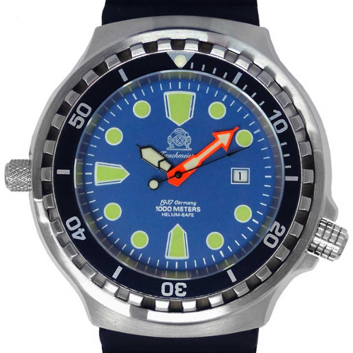 Tauchmeister 1937 トーチマイスター1937 自動巻き(手巻き機能あり) 腕時計 [T0315] 並行輸入品 逆回転防止ベゼル ヘリウムエスケープバルブ  カレンダー