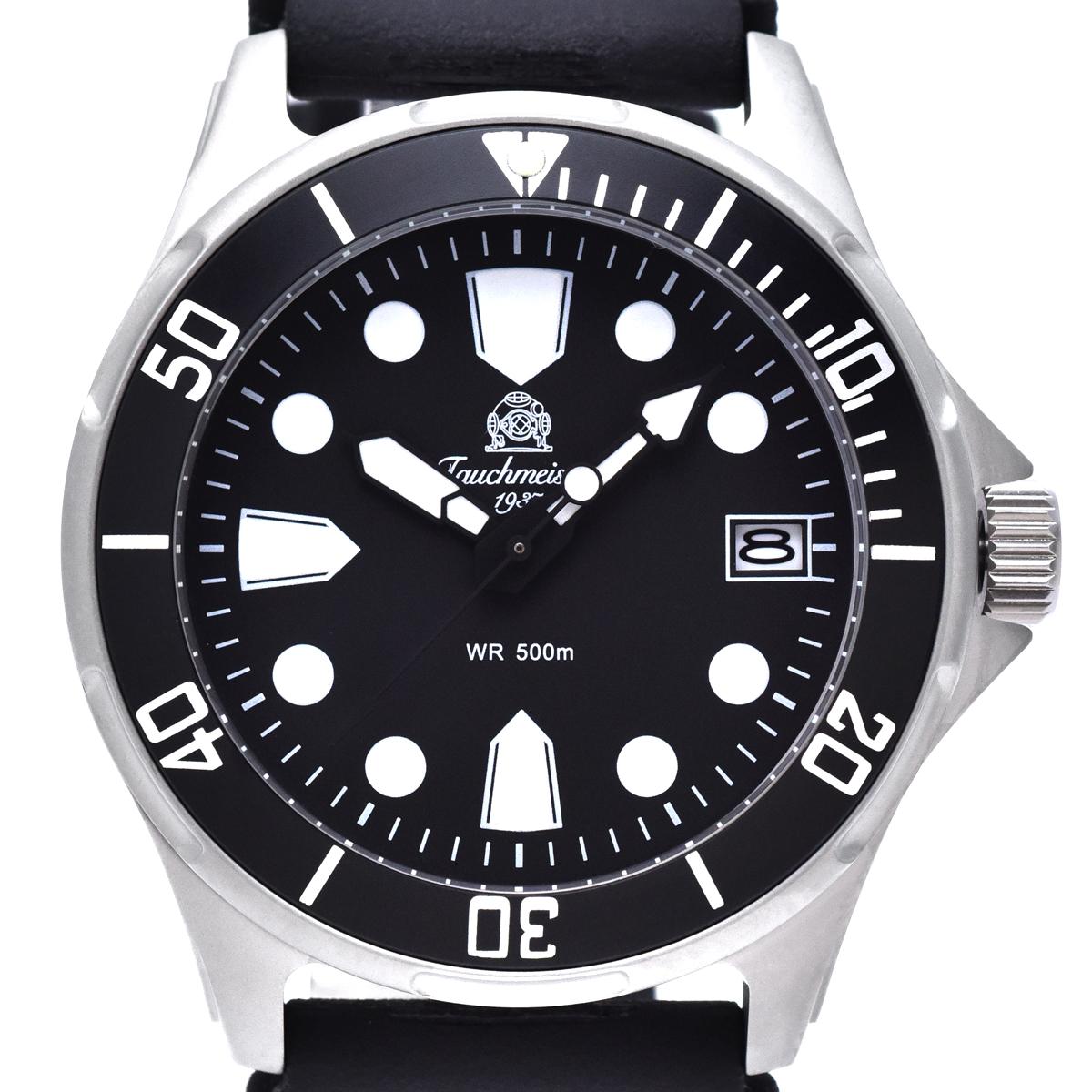 Tauchmeister 1937 トーチマイスター1937 電池式クォーツ 腕時計 [T0321] 並行輸入品 逆回転防止ベゼル  カレンダー