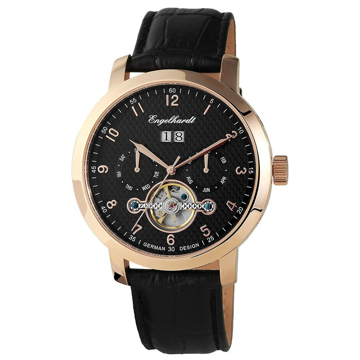 Engelhardt エンゲルハート 自動巻き 腕時計 メンズ ドイツ製 [388931029008] 並行輸入品 純正ケース付き【訳アリ価格:メーカー保証なし】
