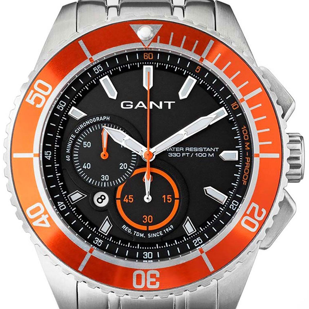GANT ガント 電池式クォーツ 腕時計 [W70542] 並行輸入品 ブラック(黒)