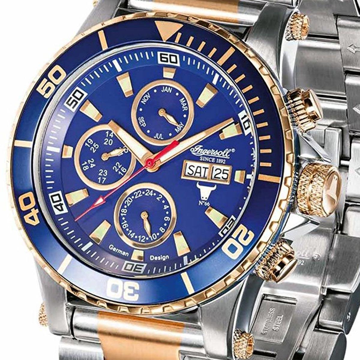 【残り1点】Ingeresoll インガーソル/インガソール 自動巻き 腕時計 [IN1511BLMB] 並行輸入品 純正ケース メーカー保証24ヶ月