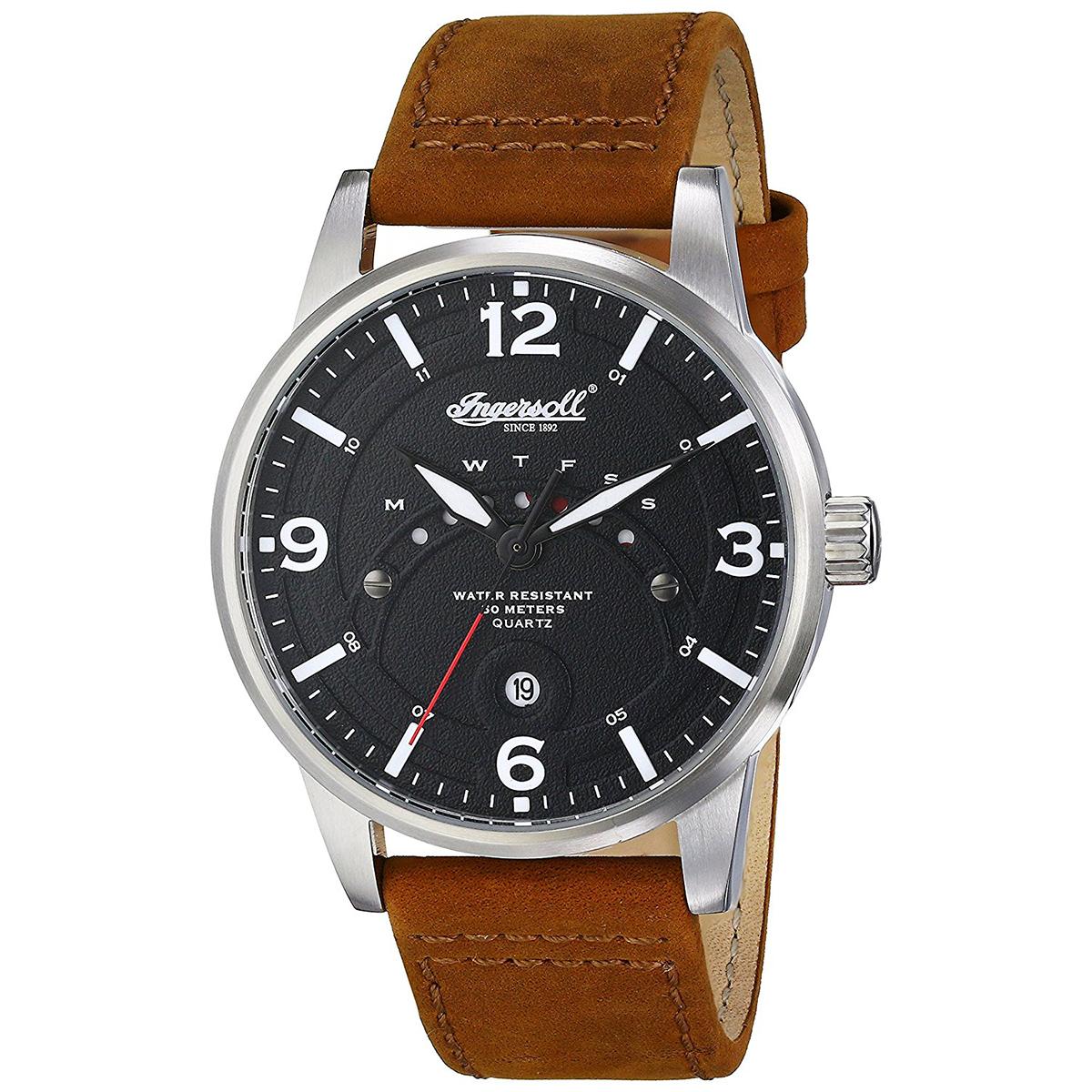 【残り1点】Ingersoll インガソール/インガーソル 電池式クォーツ 腕時計 [INQ026BKBR] 並行輸入品   デイデイト