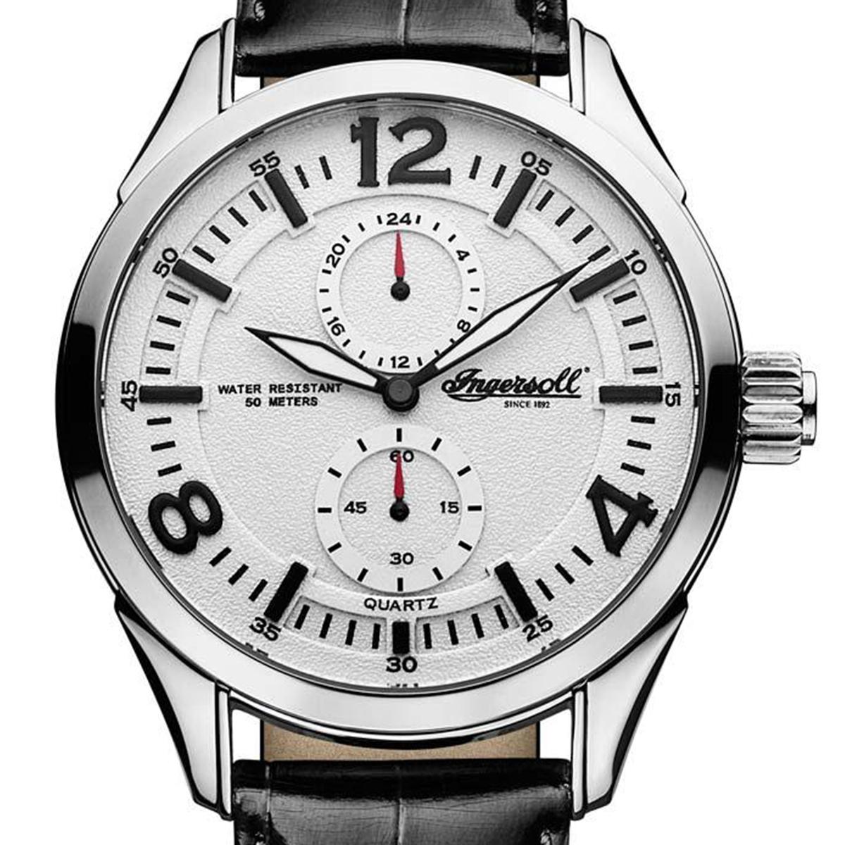 【残り1点】Ingersoll インガソール/インガーソル 電池式クォーツ 腕時計 [INQ028WHBK] 並行輸入品