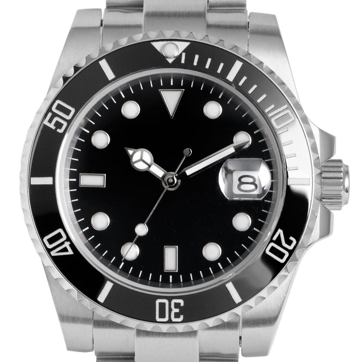 e819a159bb ブラック オートマチック 【ポイント10倍】 機械式腕時計 メンズ GMTマスター NOLOGO PVD 自動巻 シンプル ノーロゴ [ NL-063BB4ASG  ]