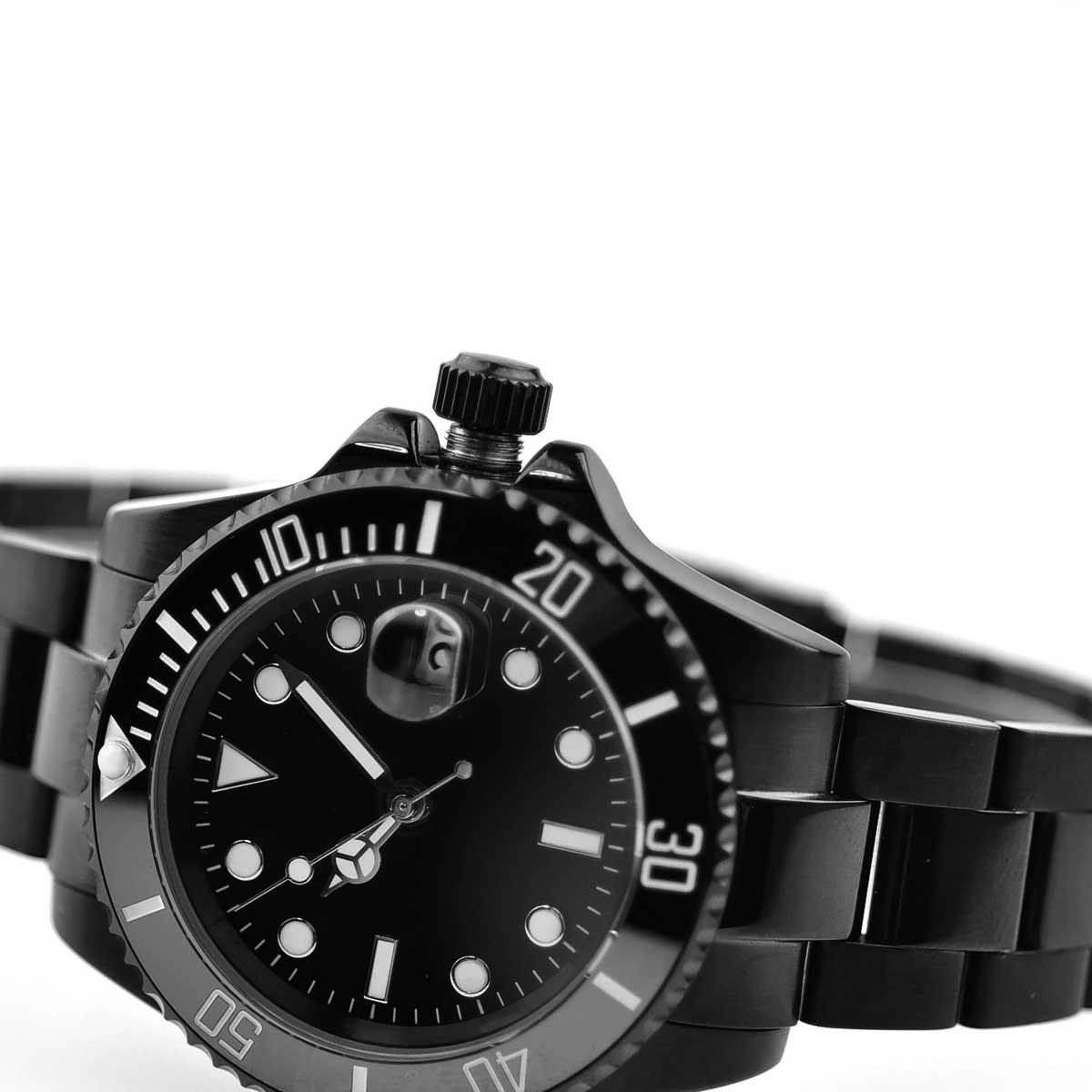 040d89587c NOLOGO ノーロゴ 機械式腕時計 自動巻 オートマチック サブマリーナ ブラック PVD [ ] シンプル メンズ NL-010BB3AS-メンズ腕時計  - guiadenegociosveaki.com.ve