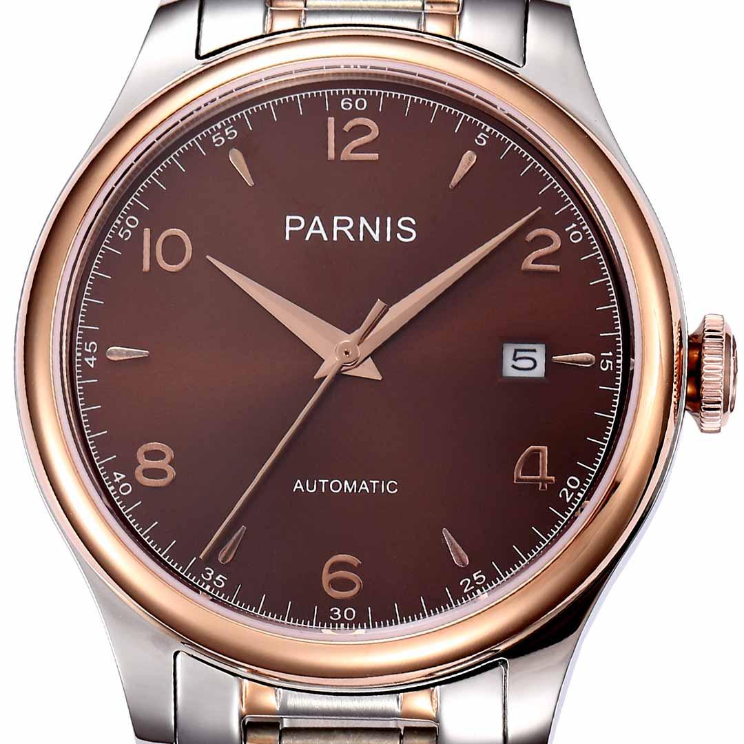 【残り1点】【NEW】PARNIS パーニス 自動巻 腕時計 メンズ [H2113-S3AS-BRSR] 並行輸入品 メーカー保証