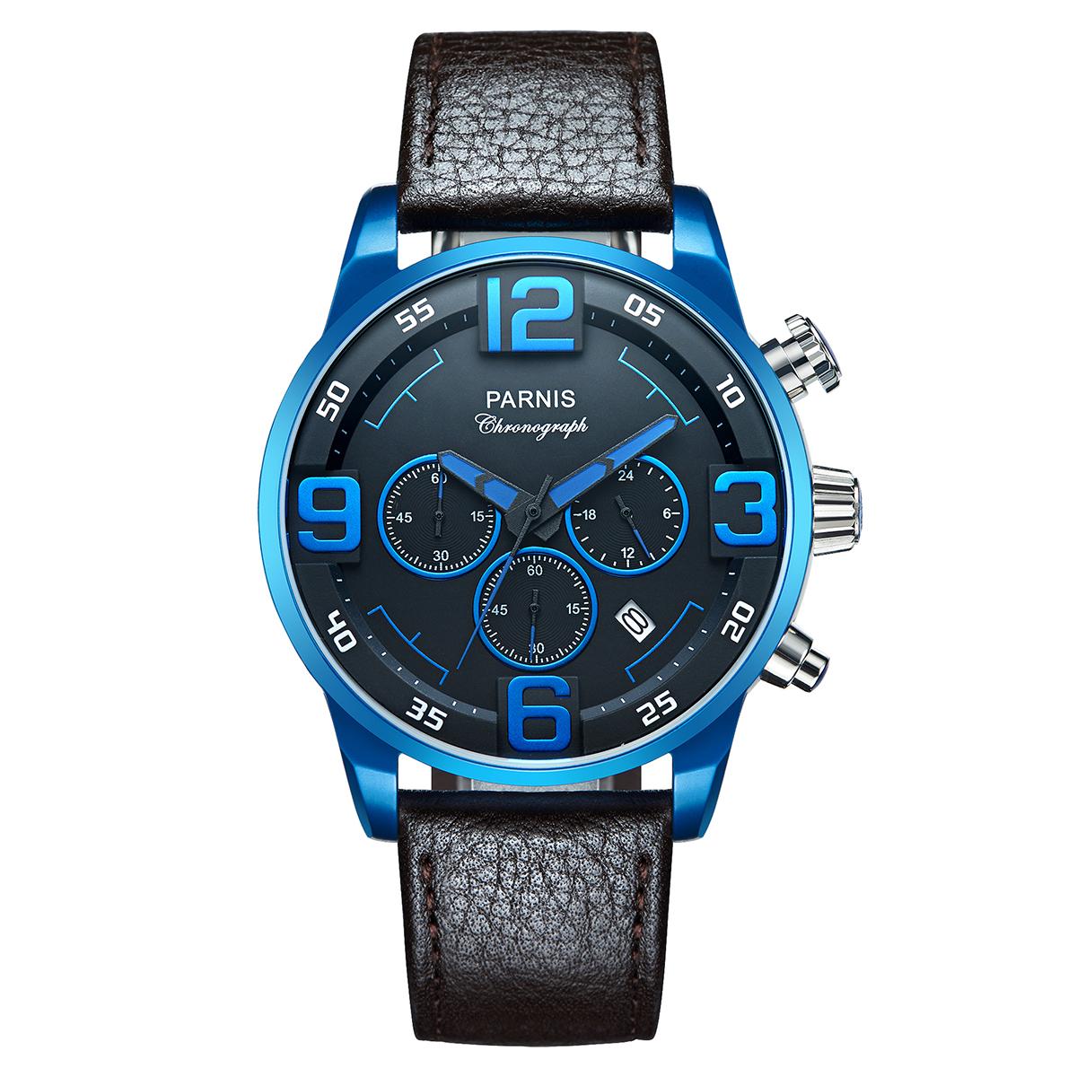 PARNIS标准打数青漆石英手表[P6033-S6EL-BLBK]并进进口商品纯正情况厂商保证12个月